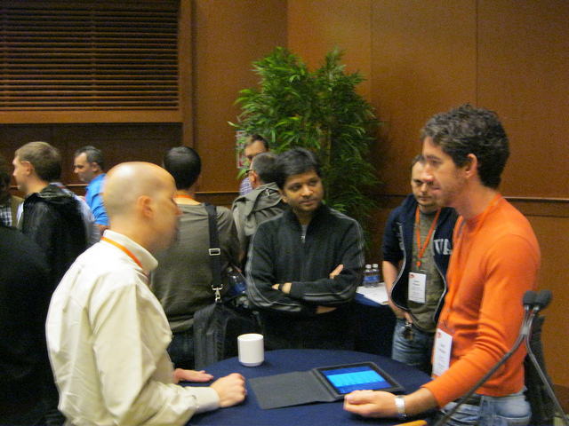 Round table discussions at Business of Software